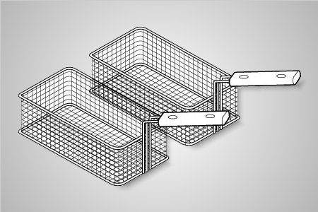 Baron pasta cooking baskets (2 x 1/3) - Model 7B