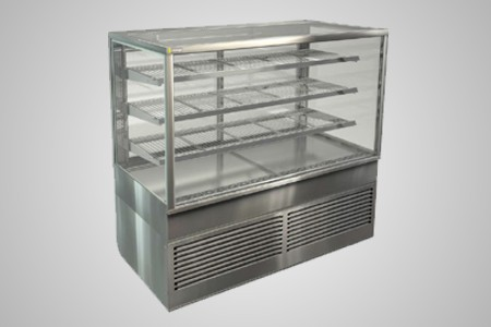 Cossiga square profile refrigerated food display - Model BTGRF15
