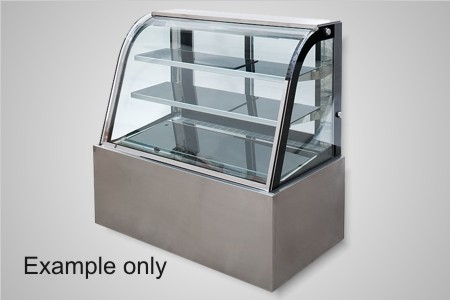 Anvil 900 curved glass refrigerated cake display - Model DSC0730
