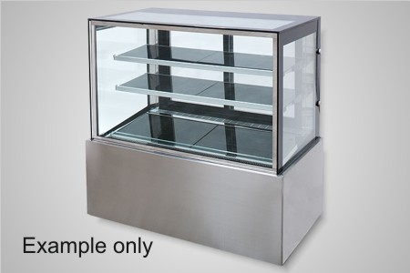 Anvil cake display 1800 square glass refrigerated - Model DSV0760
