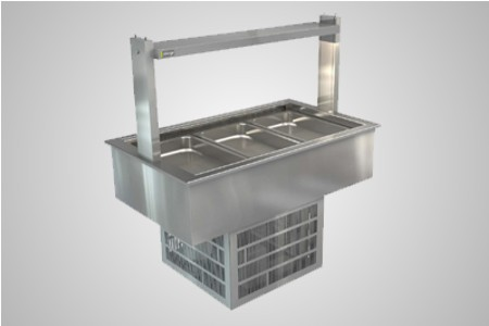 Cossiga linear series refrigerated well - Model LSRF3