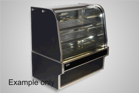 Koldtech 2000 curved glass refrig. cake display - Model RCD-20
