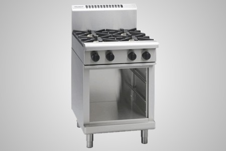 Waldorf gas cooktop 4 burner cabinet base - Model RN8400G-CB