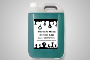 Green & Mean 5 litre warewashing rinse-aid - Code G&MRIN005