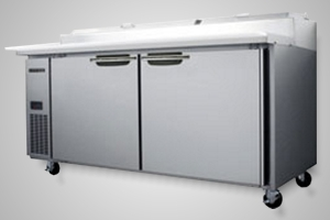 Skope pizza prep fridge 2 door - Centaur Model BC180-P-2RROS-E