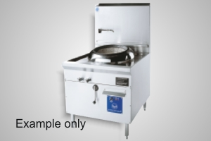 B&S wok table single hole turbo air forced - Model CCF-HP1