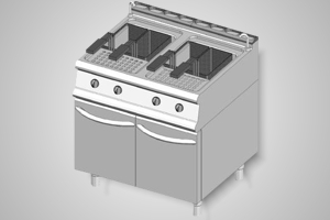 Baron fryer double pan gas 700 Series - Model 7FRI/G815
