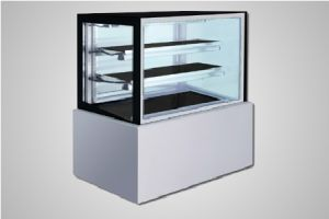 Bromic cake display 1500 square glass refrigerated - Model FD1500