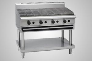 Waldorf gas 1200 char grill on leg stand - Model CH8120G-LS