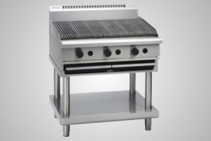 Waldorf gas 900 char grill on leg stand - Model CH8900G-LS