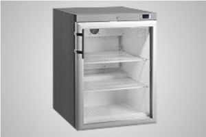 Anvil single glass door under bench fridge - Model FBCG1200