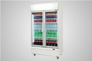 Bromic glass door chiller with lightbox white 1000 litre - Model GM1000LW LED