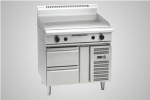 Waldorf 900mm griddle refrigerated base model - Model GP8900G-RB