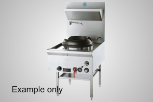 B&S wok table single hole waterless - Model UFWW-1