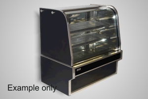 Koldtech 1800 curved glass refrig. cake display - Model RCD-18
