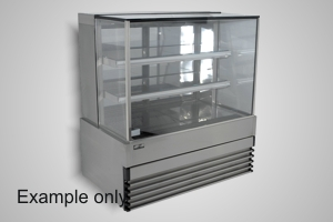 Koldtech cake display 1200 square glass refrigerated - Model SQRCD-12