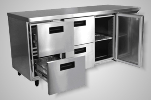 Anvil under bar fridge with 4 drawers - Model UBD4000