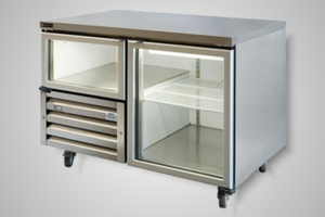 Anvil under bench fridge 1.5 glass doors - Model UBG1200