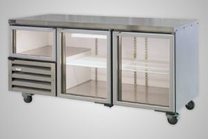 Anvil under bench fridge 2.5 glass doors - Model UBG6180