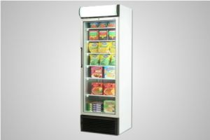 Bromic glass door static freezer with lightbox 440 Litre - Model UF0440LS LED