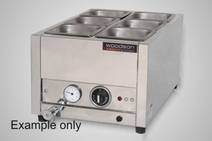 Woodson bain marie benchtop 1/1GN size - Model WBMS11