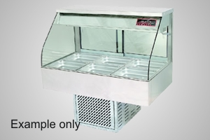 Woodson cold food display 4 module curved glass - Model WCFC24-65