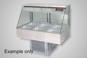 Woodson cold food display 4 module straight glass - Model WCFS24-65