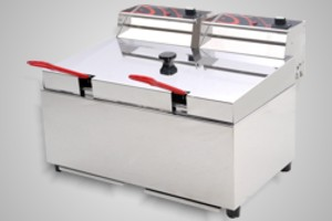 Woodson fryer 2 x 5 litre double pan - Model WFRT50