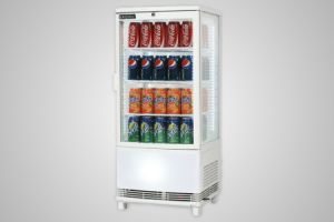 Bromic countertop beverage chiller curved glass white - Model CT0080G4WC