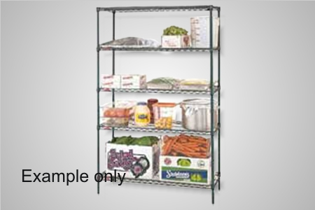 Metro shelving 4 tier 1220x455 wire - Model 4T74.1848.NK3