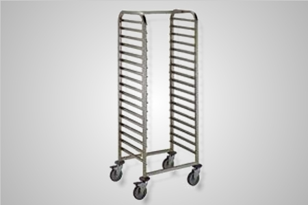 Stainless steel mobile tray trolley - Model Custom
