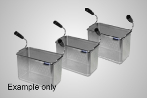 Baron pasta cooking baskets (3 x 1/3) - Model 9B