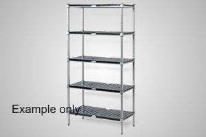 Mantova shelving 4 tier 1500x450 with ABS shelves - Model ABS4T.1500450