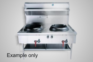 B&S wok table double hole waterless - Model UFWWD-2