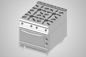 Baron oven range 4 burner 900 Series - Model 9PCF/G8005