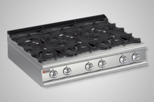 Baron cooktop 6 burner 700 Series - Model 7PC/G1205