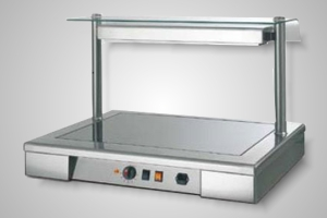 Moduline carvery unit counter top with sneeze guard - Model HTC 021E