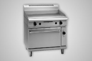 Waldorf 900mm griddle electric convection gas oven - Model GP8910GEC