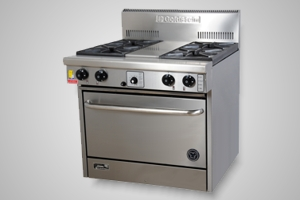 Goldstein oven range 4 burner - Model PF-4-28