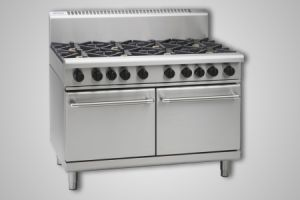 Waldorf 6 burner gas 300mm griddle double static oven - Model RN8823G