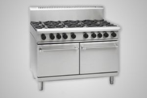 Waldorf 2 burner gas 900mm griddle double static oven - Model RN8829G
