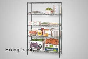 Metro shelving 4 tier 1830x610 wire - Model 4T74.2472.NK3