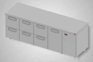 Anvil under bar fridge with 6 drawers - Model UBD6000