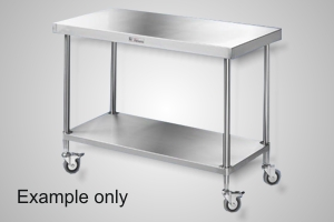 Simply Stainless 600 Series mobile work bench - Model SSS03-0600